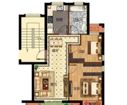 67-72㎡二室二厅一卫A户型