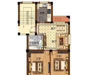 67-72㎡二室二厅一卫B户型