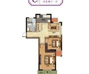 67-72㎡二室二厅一卫C户型(高层)