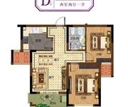 67-72㎡二室二厅一卫D户型(高层)