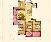 四室两厅两卫143㎡E'户型