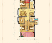 四室两厅两卫143㎡F5户型