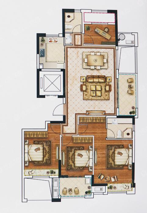 约140方4室2厅2卫G户型