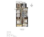 三房两厅两卫A3户型94㎡