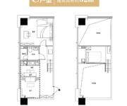 C户型 52方 1室2厅1卫