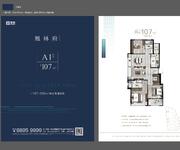 A1户型 107㎡ 3室2厅2卫