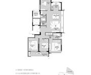 D户型 4室2厅2卫 153㎡