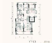 A2户型 3室2厅2卫 97㎡