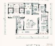 F1户型 4室2厅3卫 177㎡