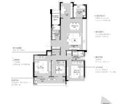 E户型 4室2厅2卫 161㎡